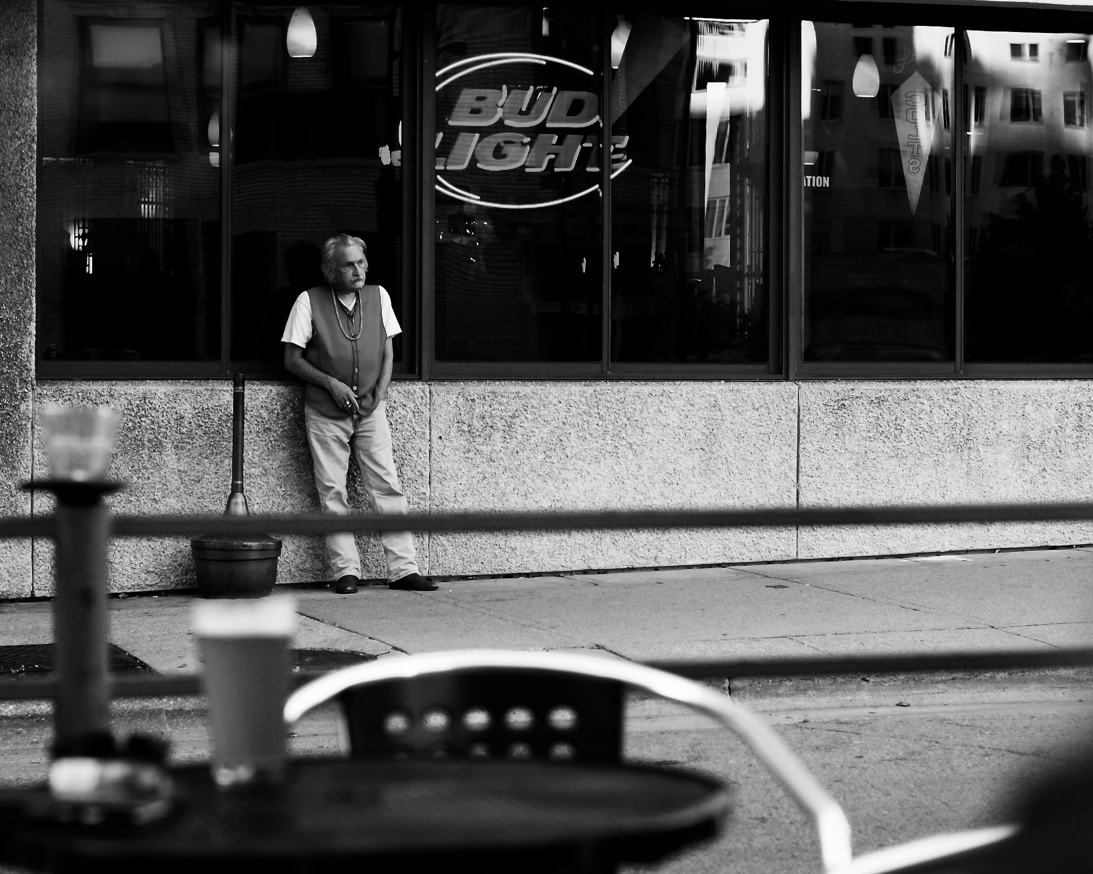 Bud Light. Capitol Square. Madison, Wisconsin. August 2015. © William D. Walker