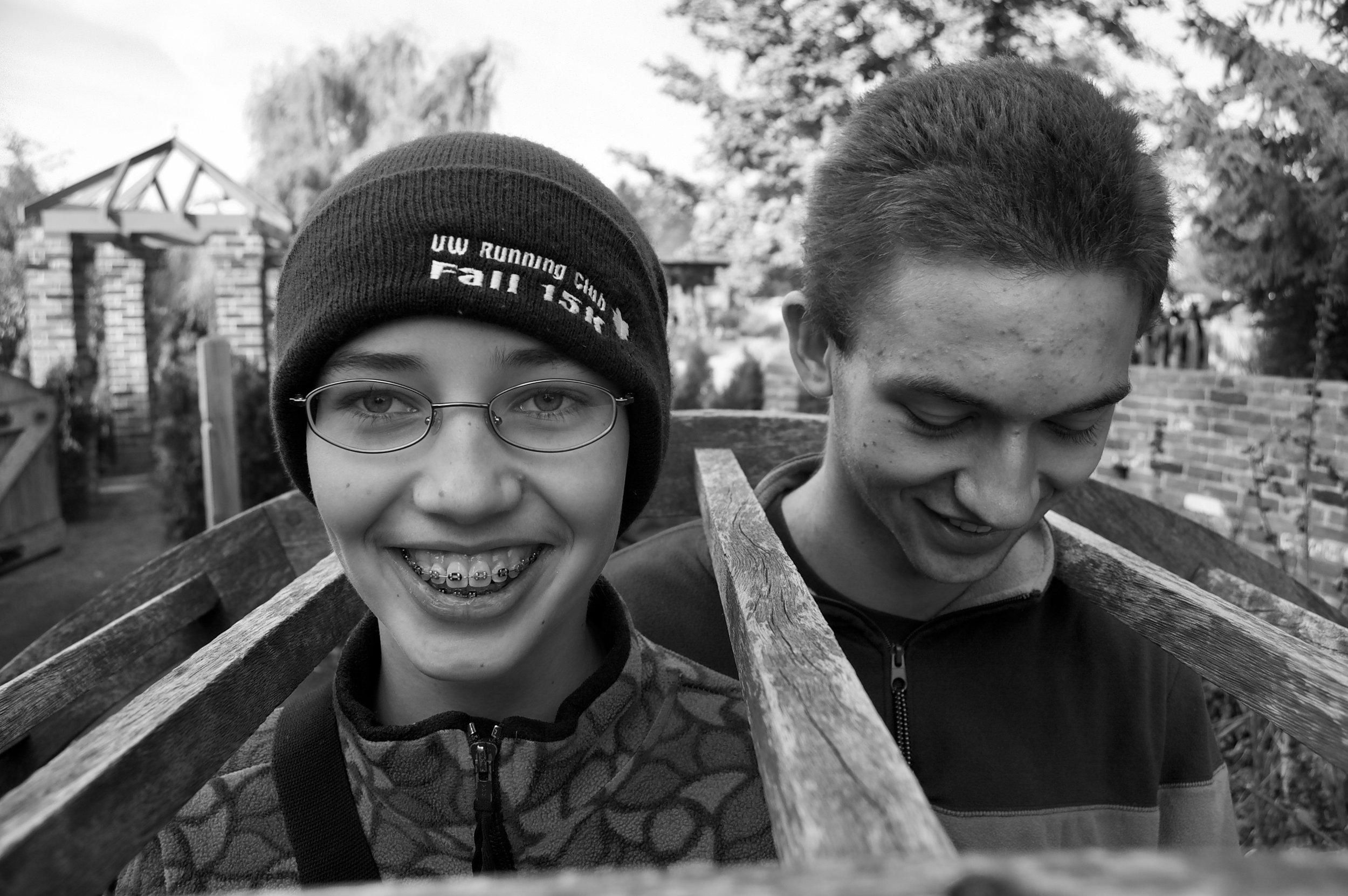 Trellis. 4-H Childrens Garden. East Lansing, Michigan. November 2008. © William D. Walker