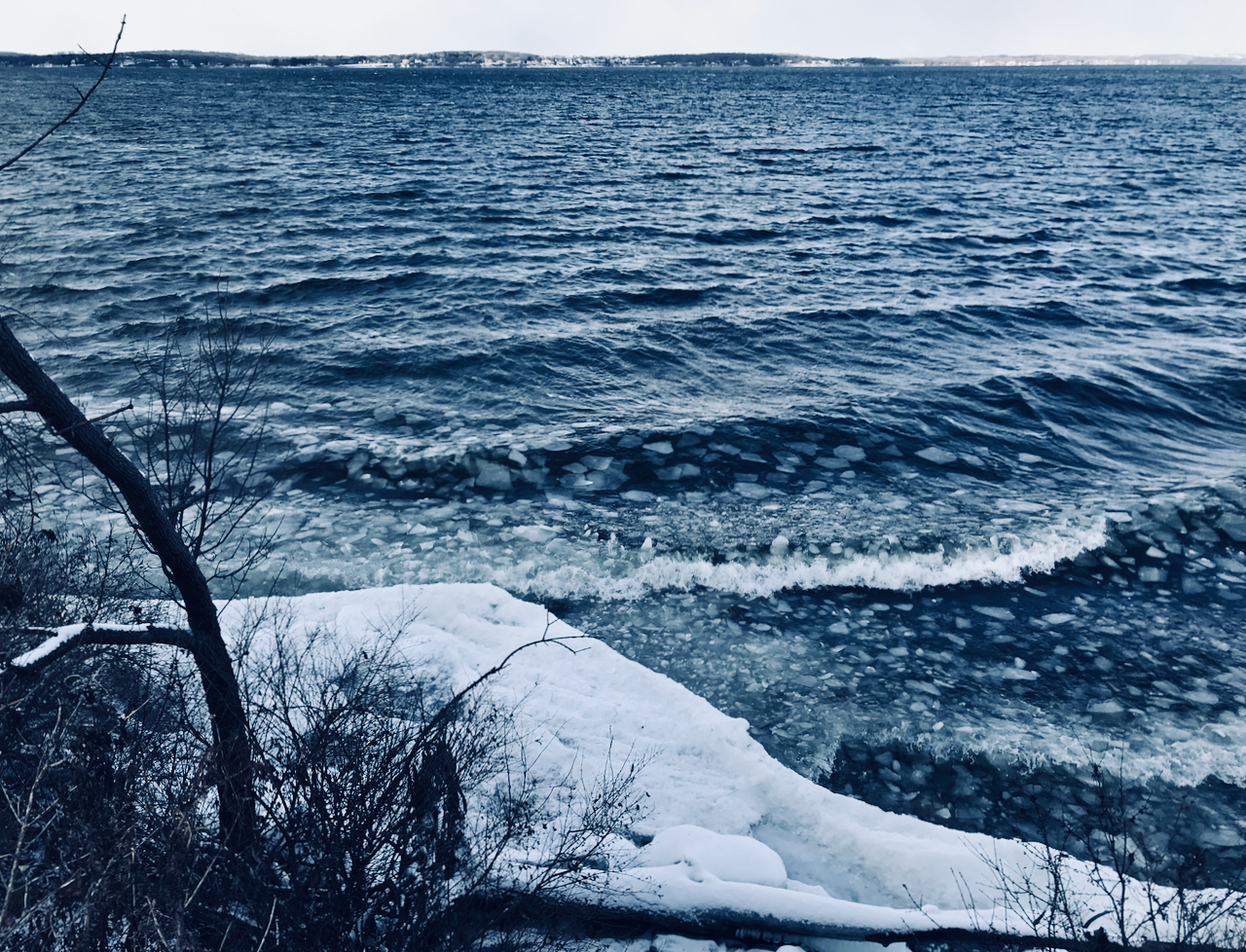 On the Rocks. Picnic Point. Madison, Wisconsin. December 2017. © William D. Walker