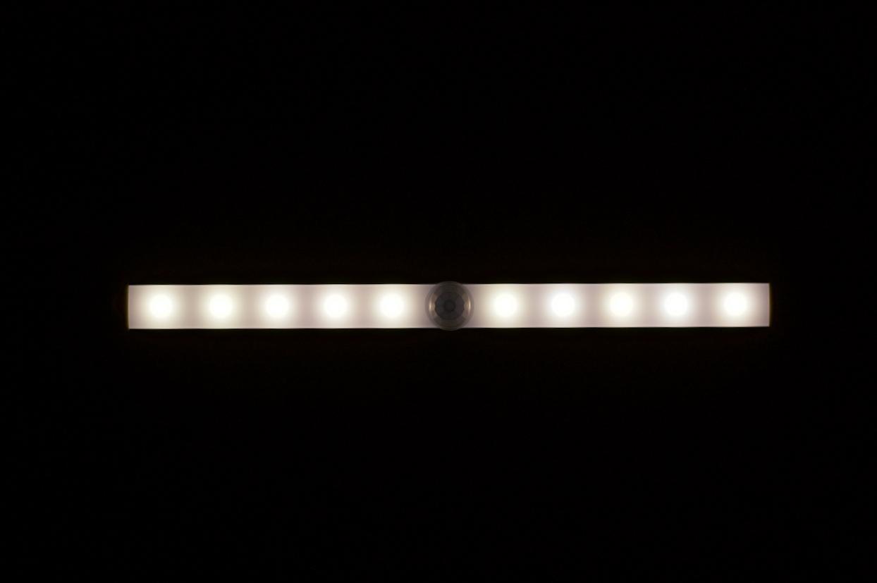 Strip Light. Madison, Wisconsin. March 2018. © William D. Walker