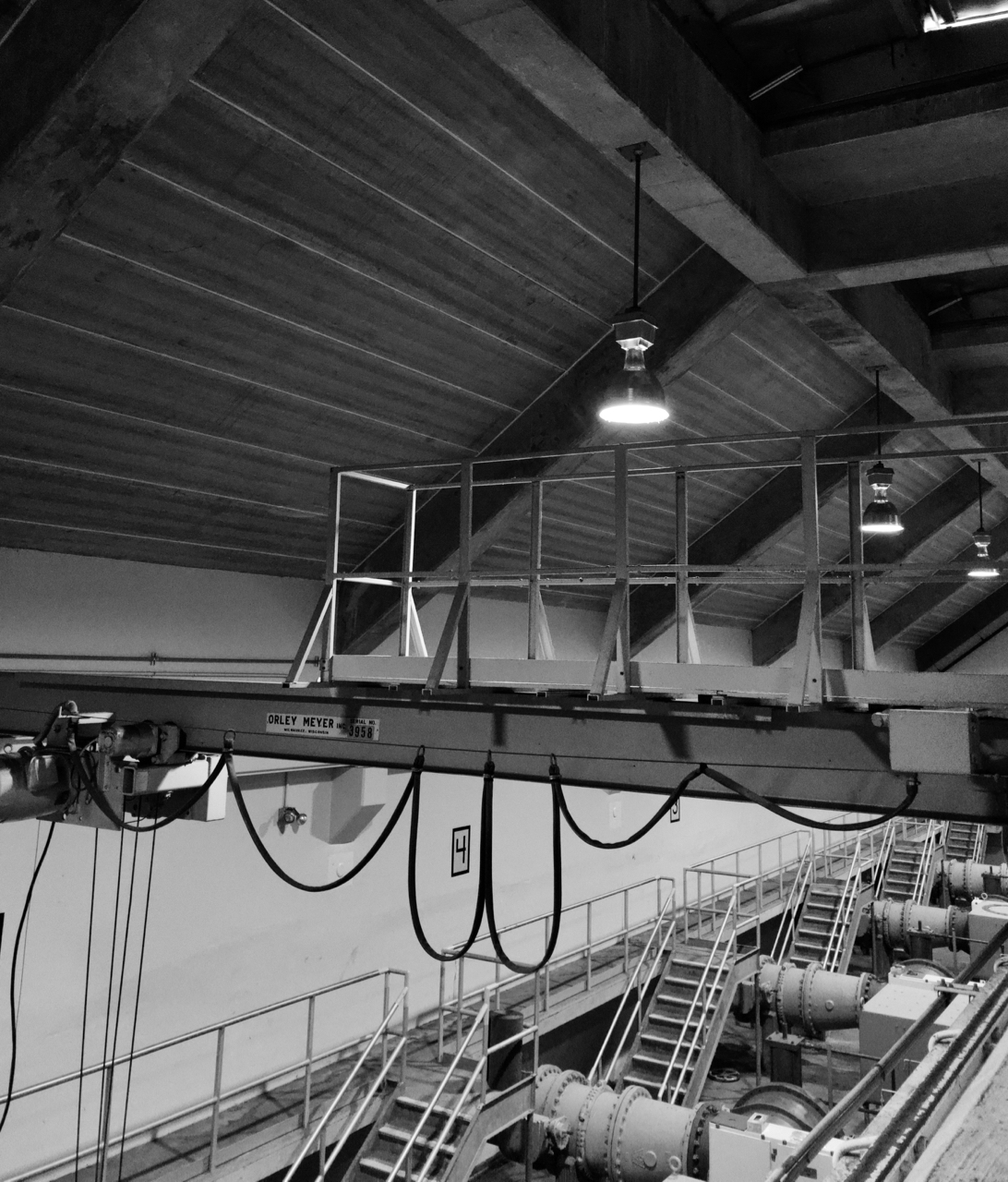 Industrial Light. MMSD. Madison, Wisconsin. February 2018. © William D. Walker
