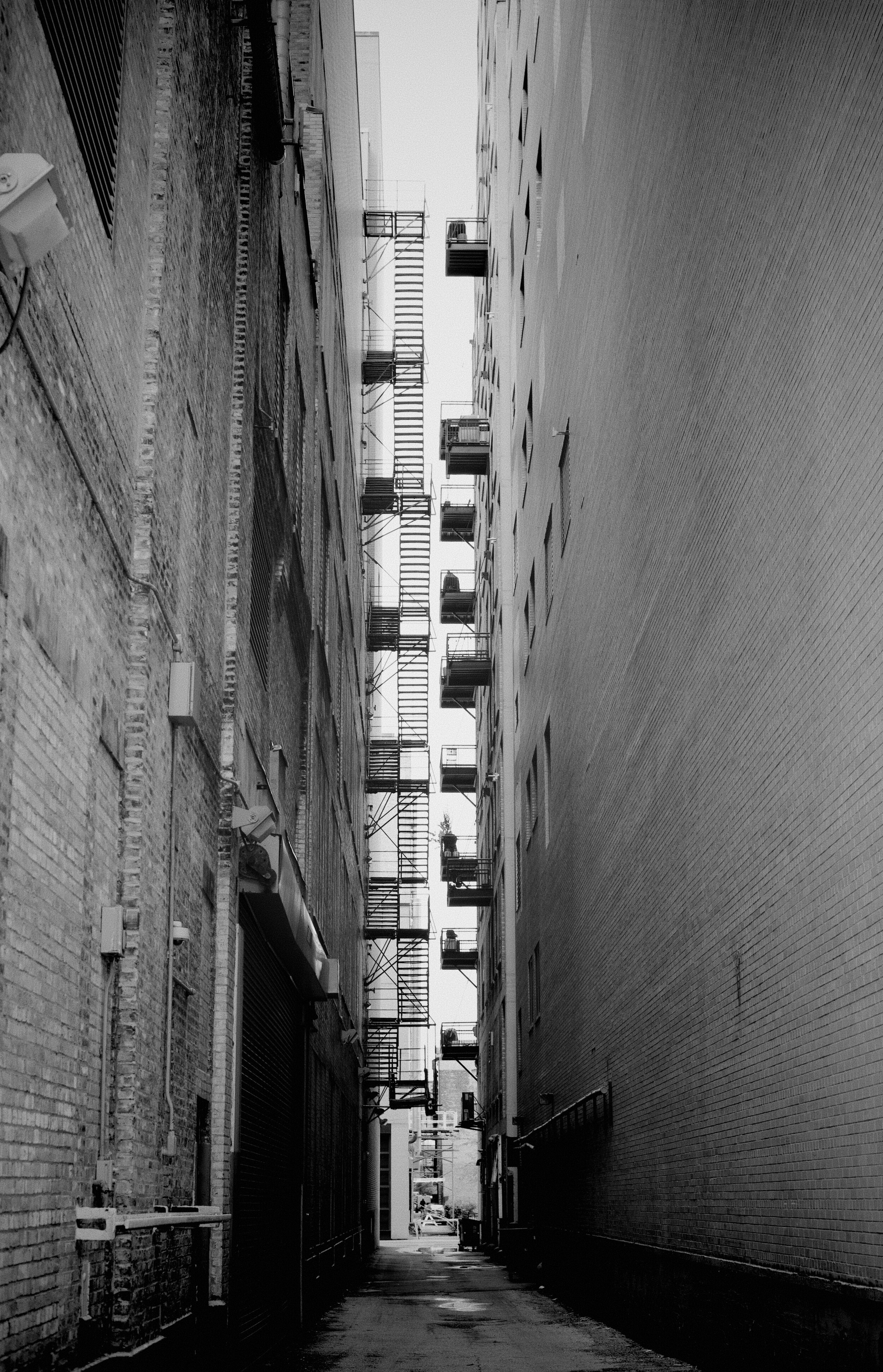 Narrow Descent. Chicago Illinois.  May 2019  © William D. Walker