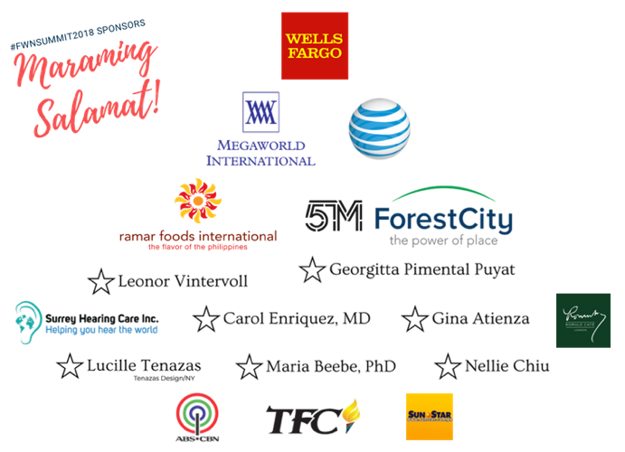 2018 FWN Filipina Summit Sponsors
