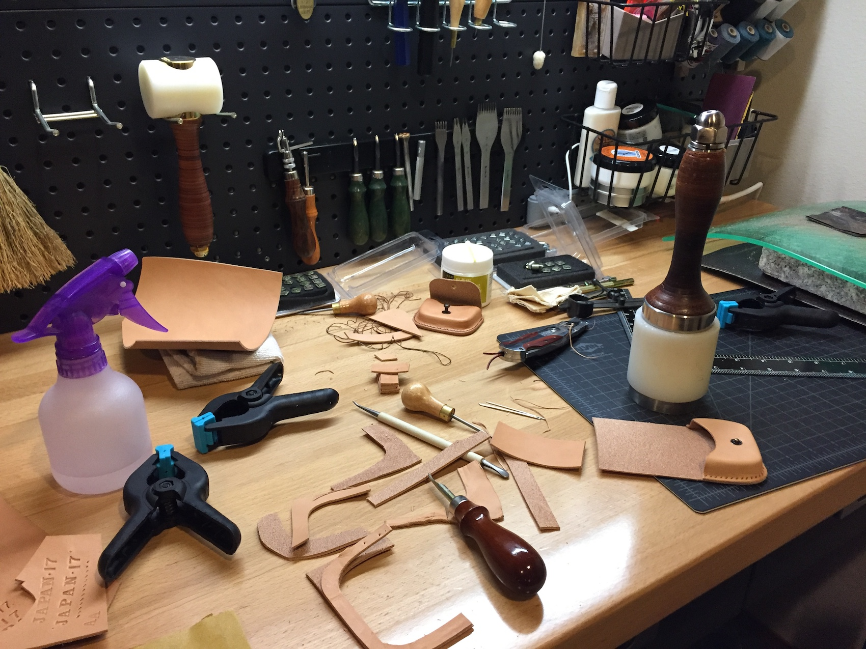 I usually like to keep my workbench open and cleared off as I'm working, but it ends up like this during random projects.
