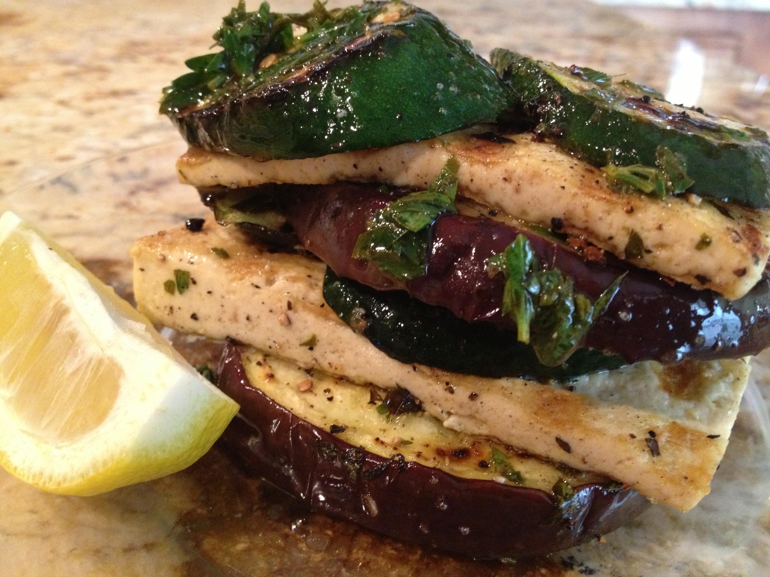 Tofu + Vegetable Stack