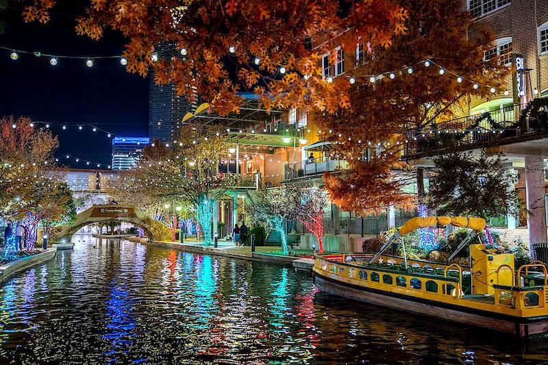 Bricktown Holiday Water Taxi Oklahoma City