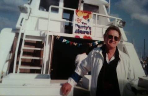 "Photo: This is my Dad, California week end sailor, around 50 in this picture, ""Treasure Island,"" Naples, California."