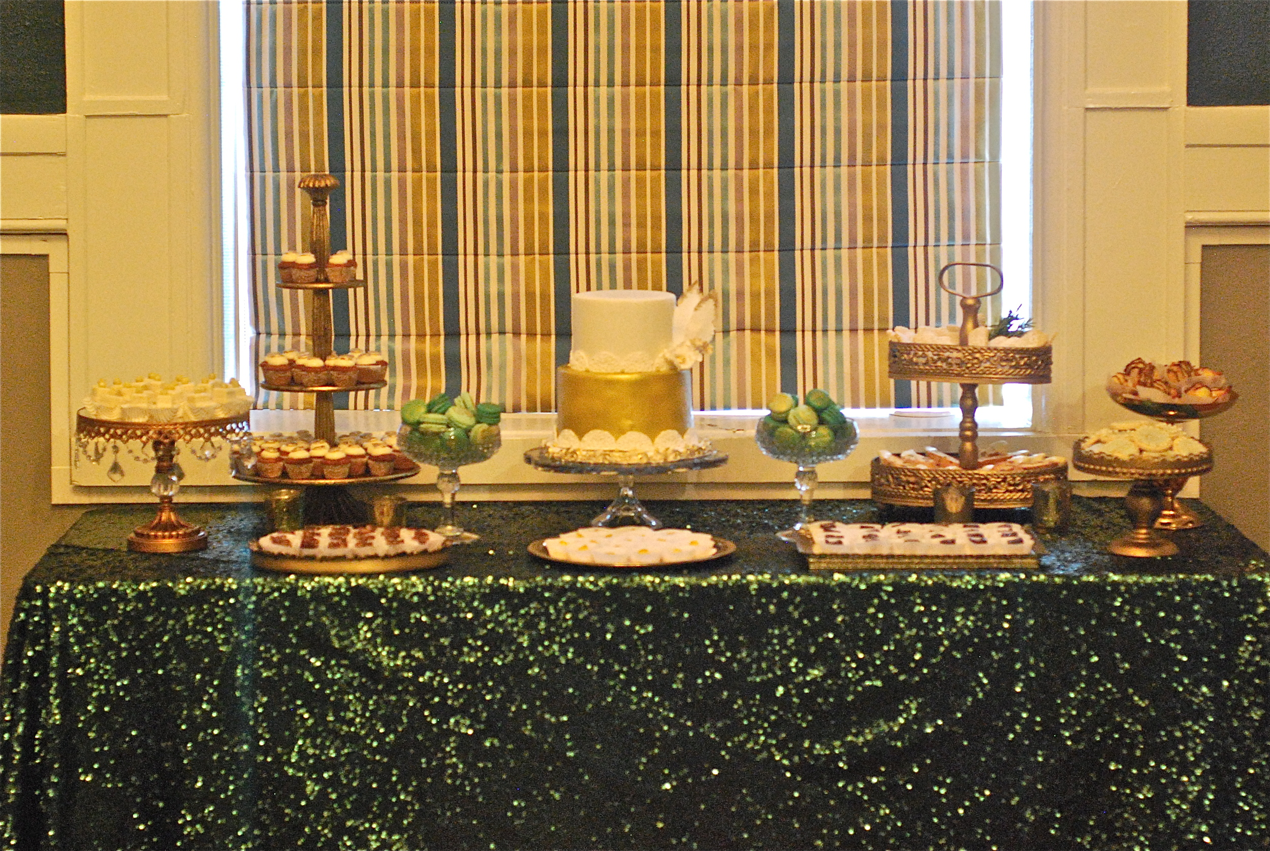Old Hollywood Glamour Dessert Buffet