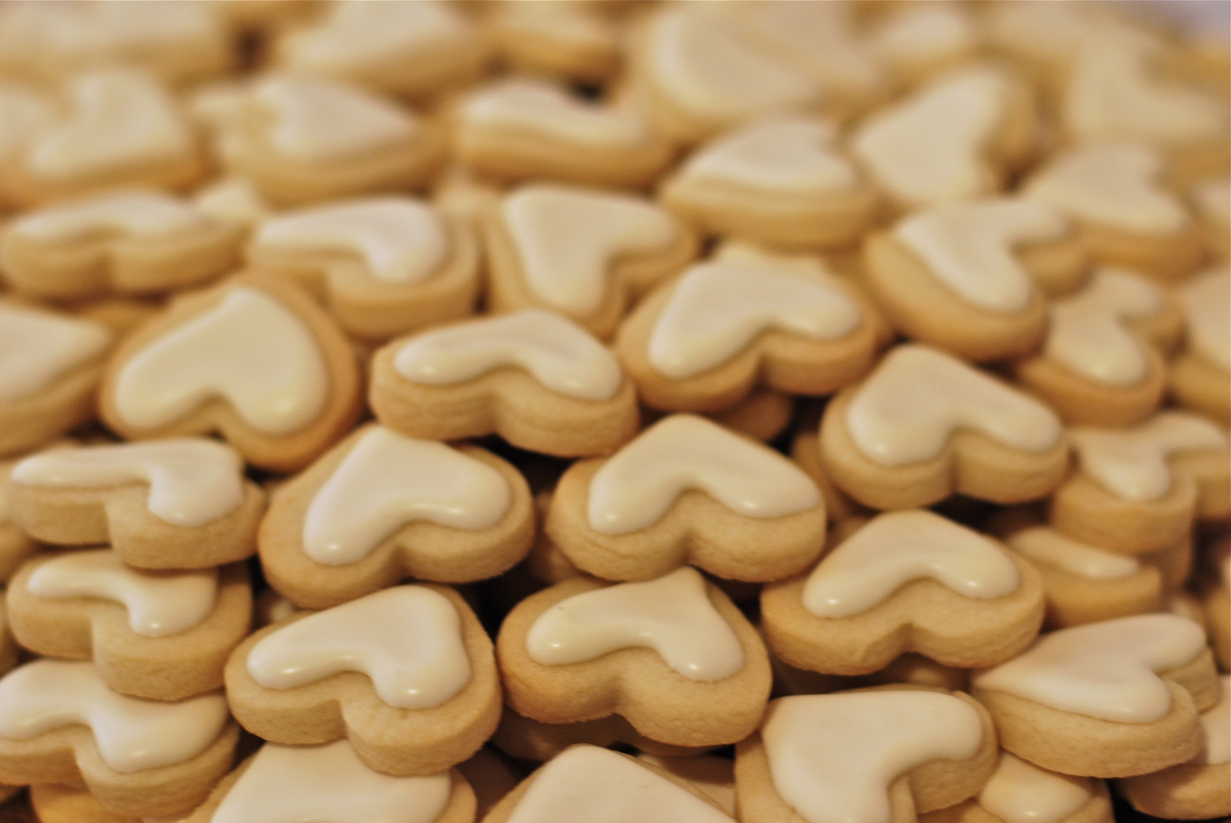 Vanilla sugar cookie hearts