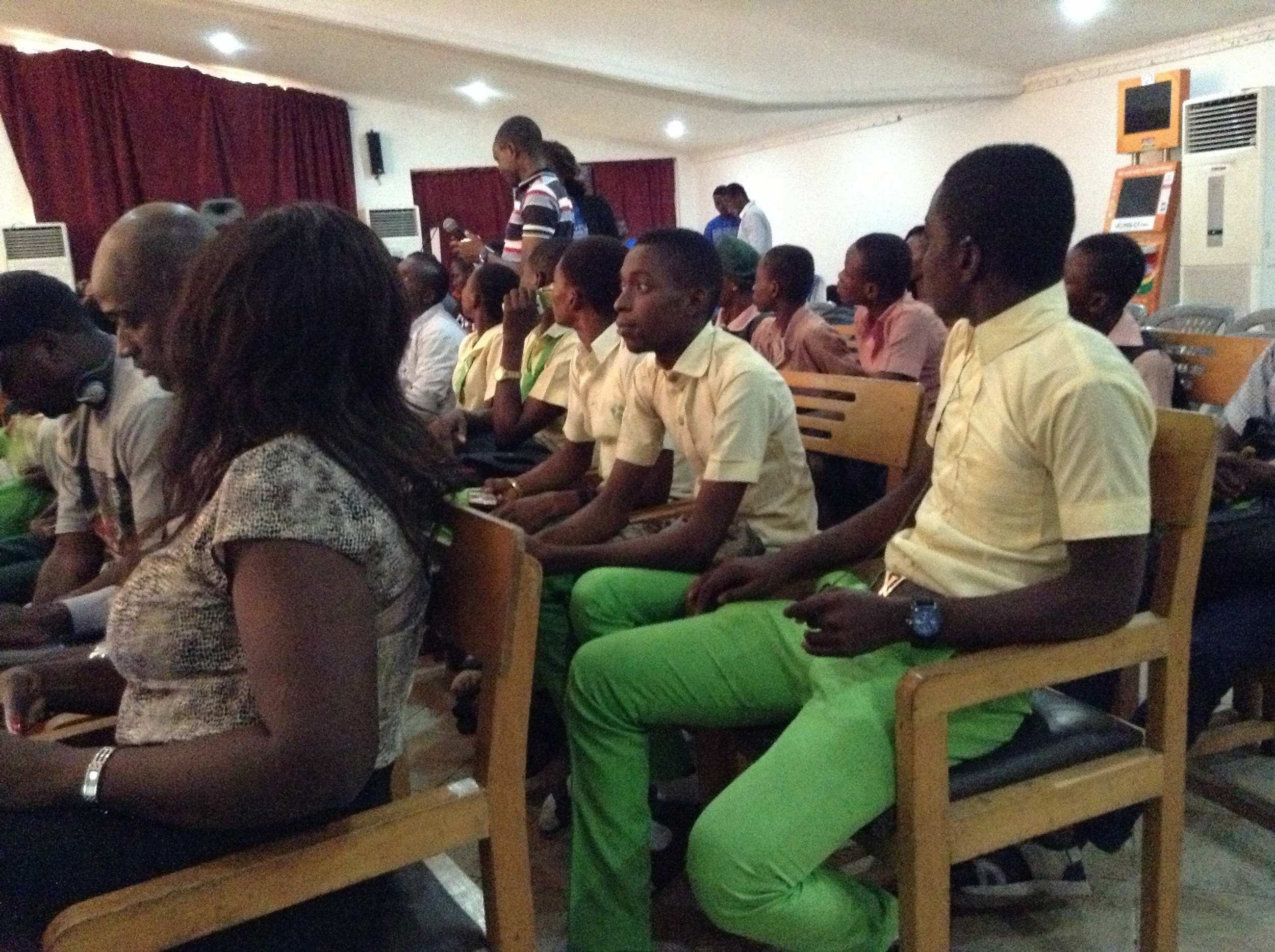 Students in the audience watching their peers.