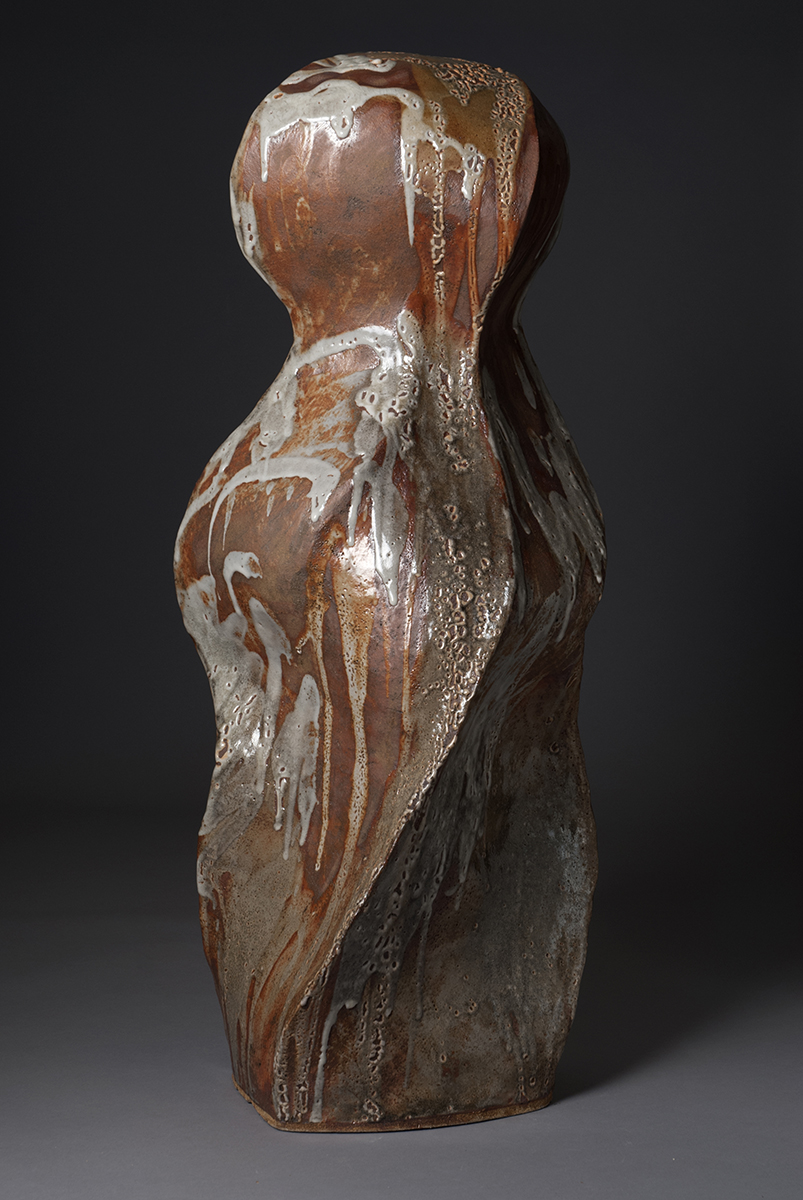 The Goddess, 2018, 34x13x14 inches, clay and glaze