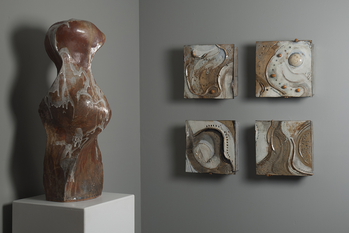 Exhibition View of The Goddess and Places to Go, 2018