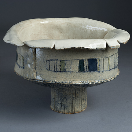 The Gary Bowl, 2018, 10x14x14 inches, clay, glaze