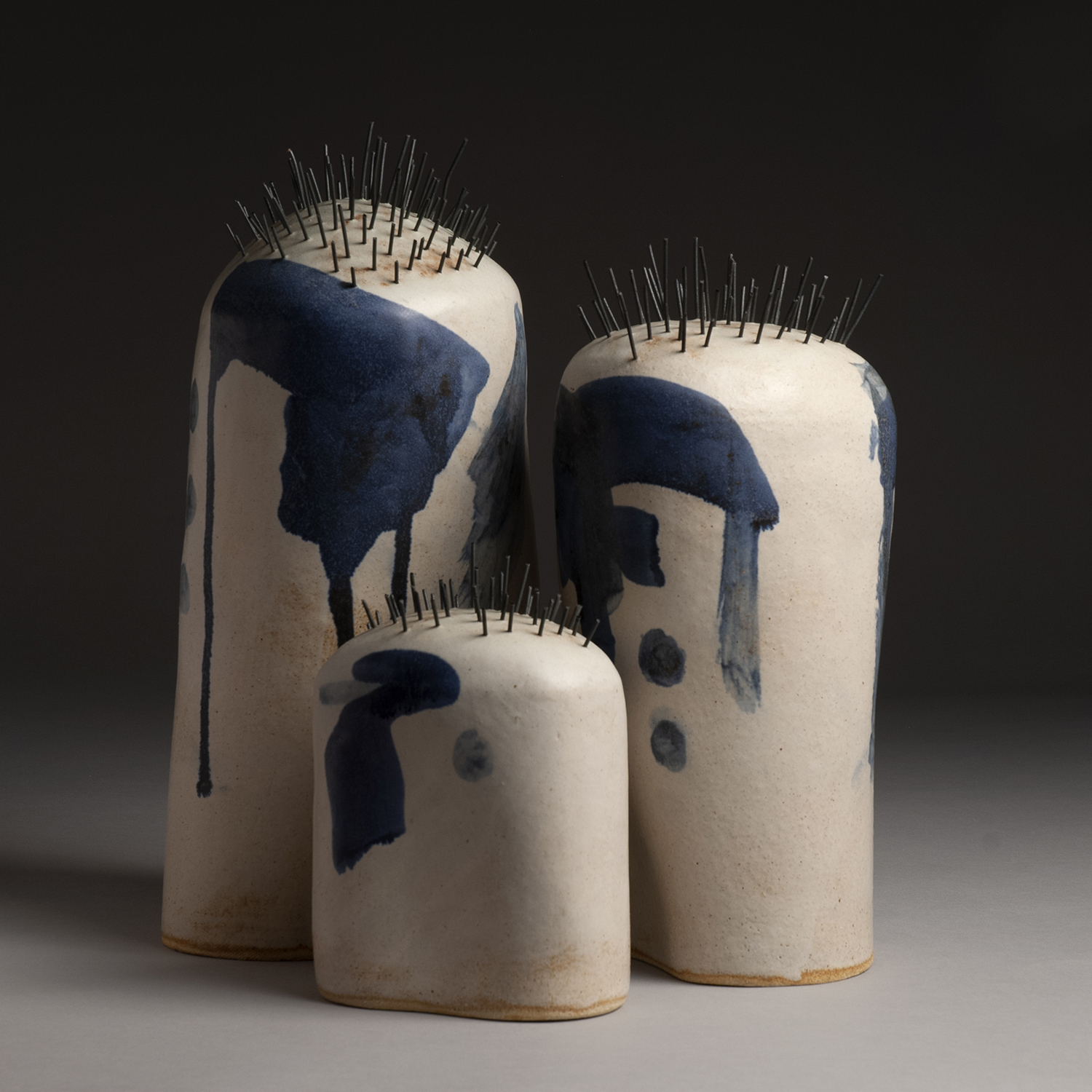 The Family Spike, 2019, 16x15x15 inches, clay and glaze