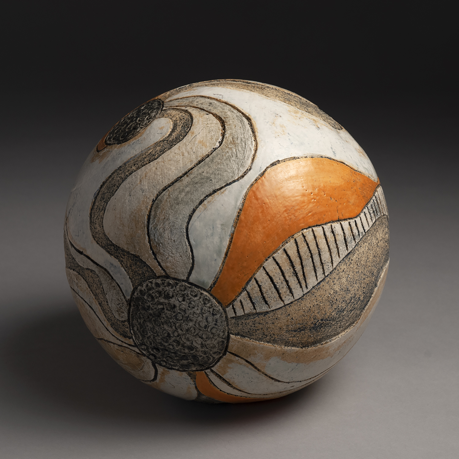 Betty Woodman, 2019, 13x13x13 inches, clay and glaze