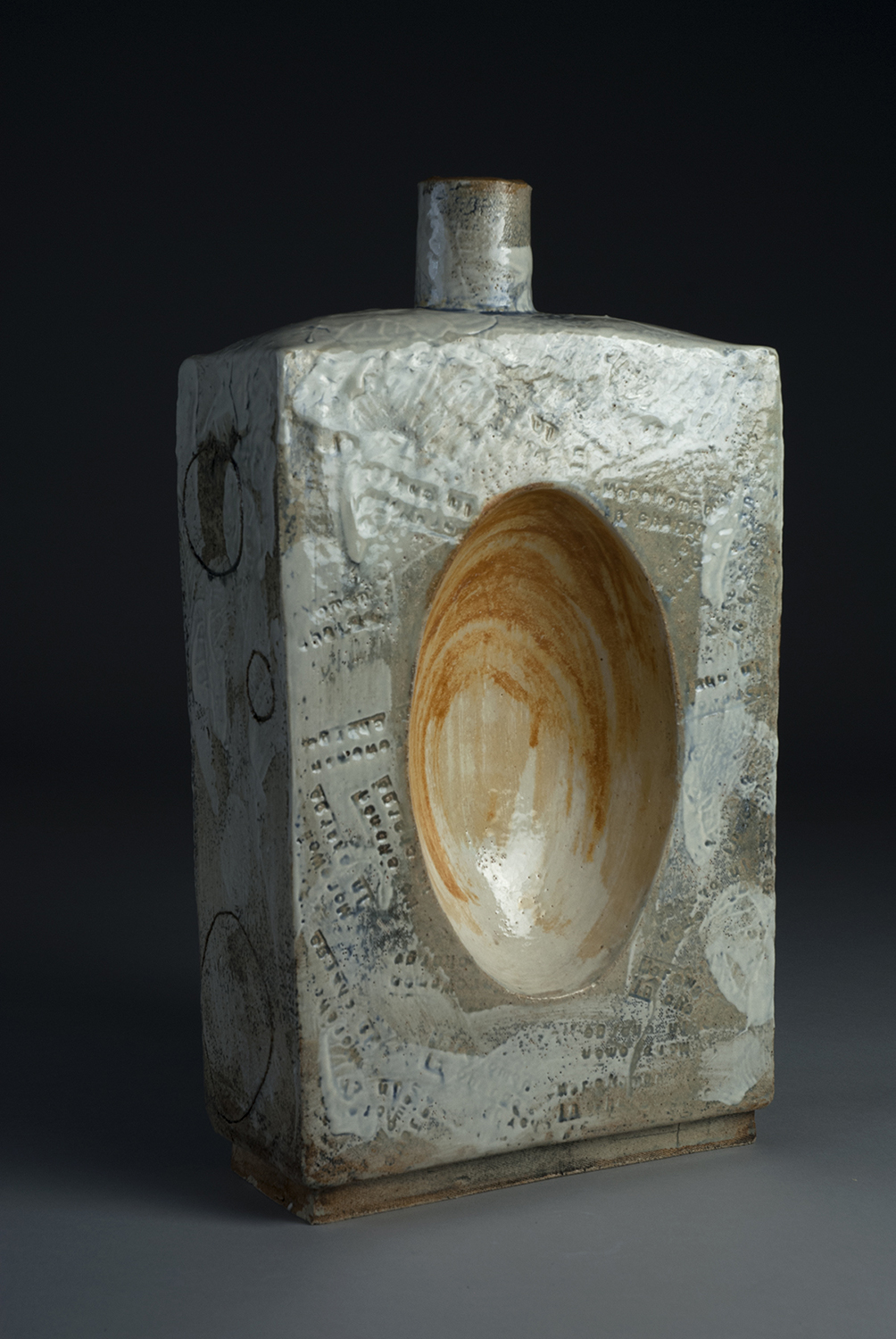 Georgia O'Keefe, 2018, 17x8x3 inches, clay, glaze