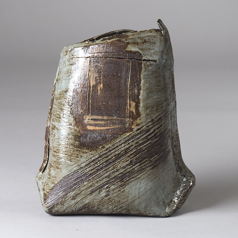Judy Chicago Vase, clay and glaze, 9x5x4,  2019
