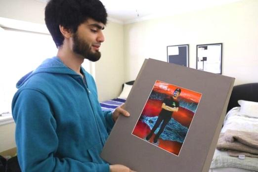 Resident Morris Mordado sharing his art.