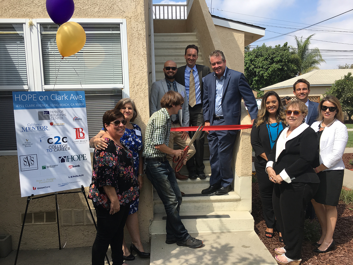 From left: Angela Rodriguez, Dana Delman, Jake Perry, Dr. Mike Munoz, Kristin Martin, Assemblymember Patrick O'Donnell, Herlinda Chico, Patricia Del Monico, Clayton Heard, Elizabeth McCann.