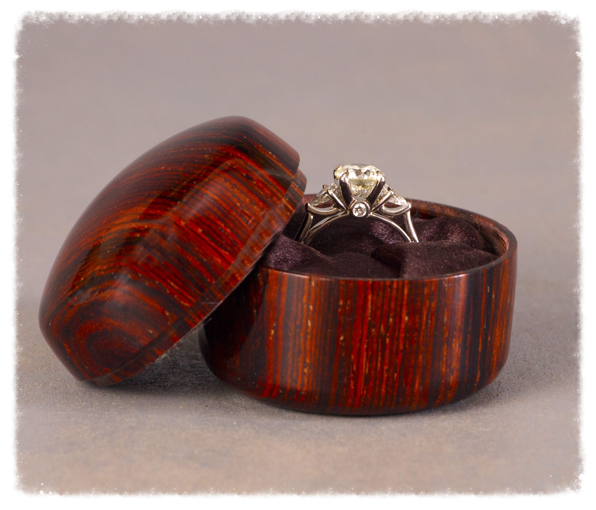 Cocobolo engagement ring box