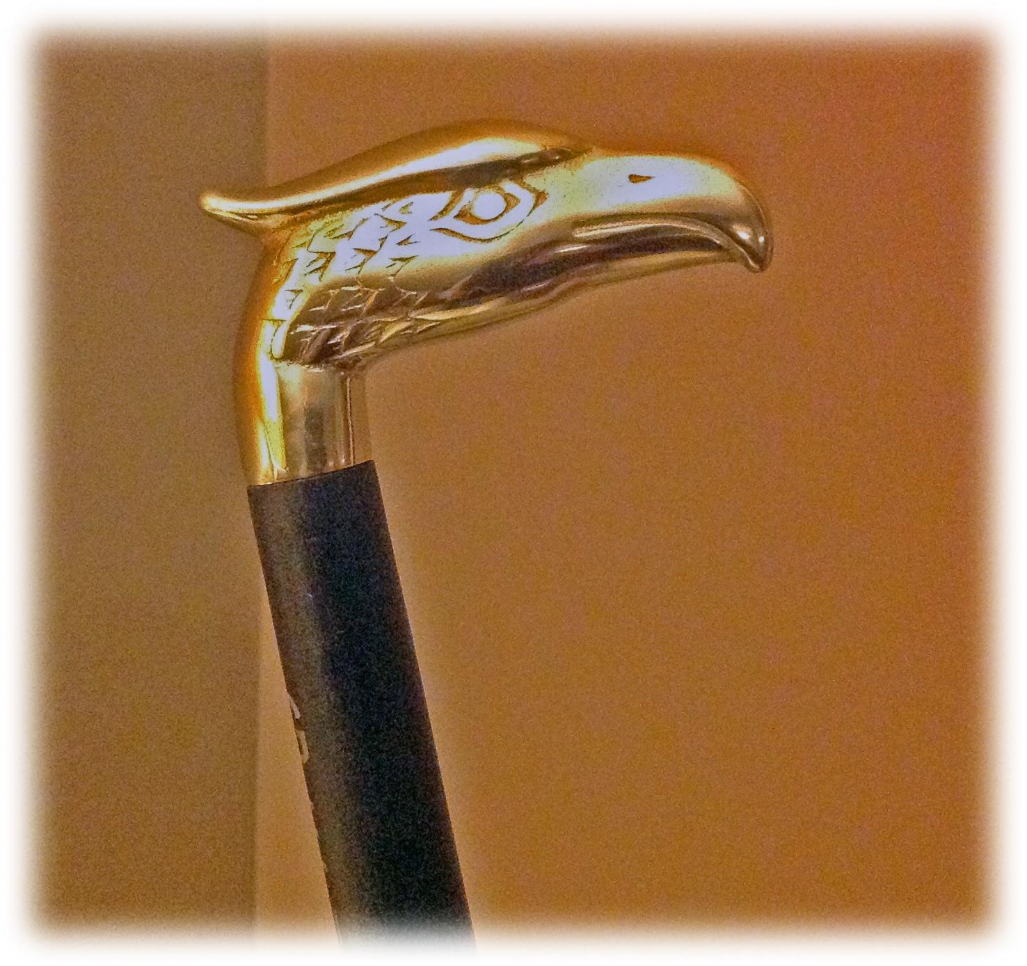 Brass Eagle & Ebonized Maple