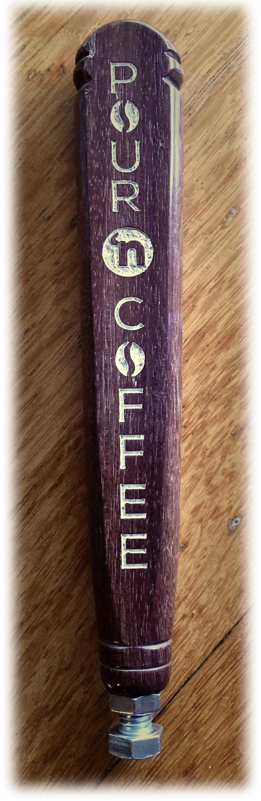 "Purpleheart<p><font size=""-4""><a href=""http://www.pourncoffee.com/"">Pour 'n Coffee</a></font></p>"