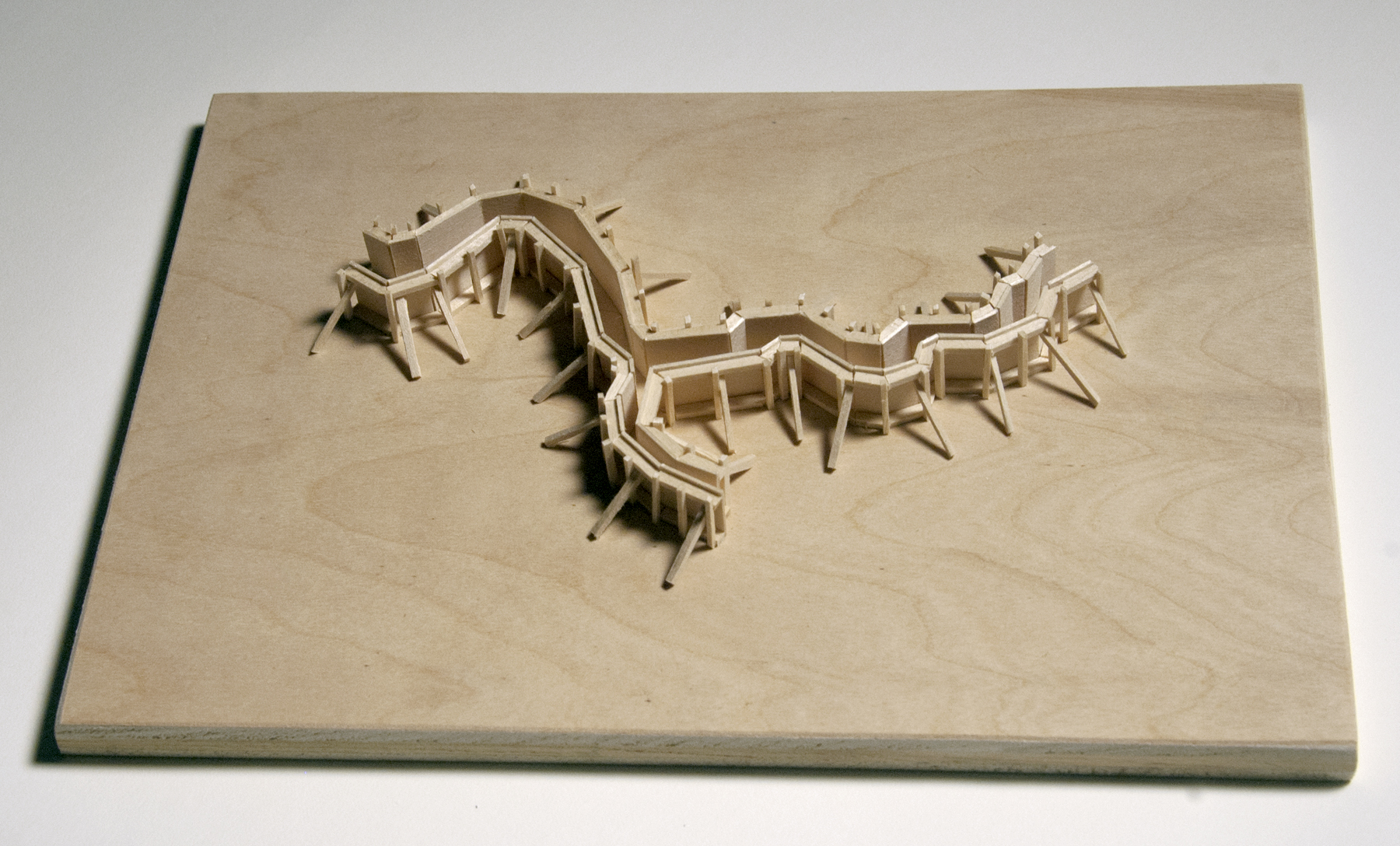 Model for Lily Creek Formwork, to be built at The Mount in Lenox, MA for SculptureNow in June 2014.