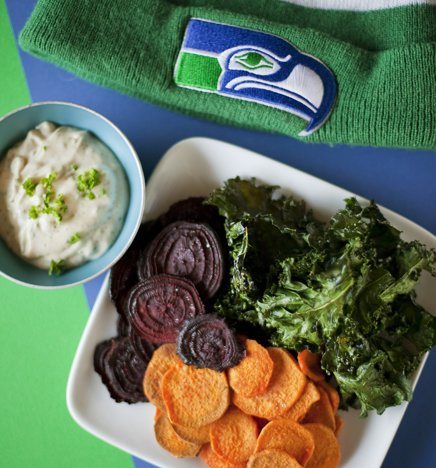 "Tasty Tasty Game Day Snacks. ""Yeah."""