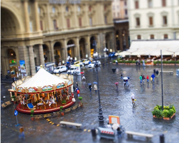 A Florence, Italy micro scene