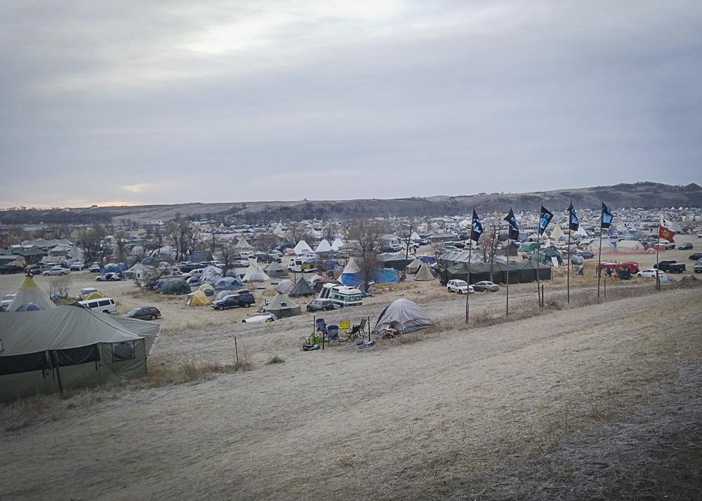 View of the camp from the main road