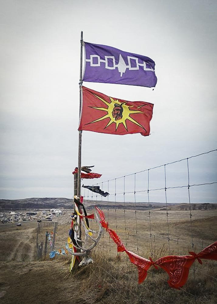Flags at the Prayer Site