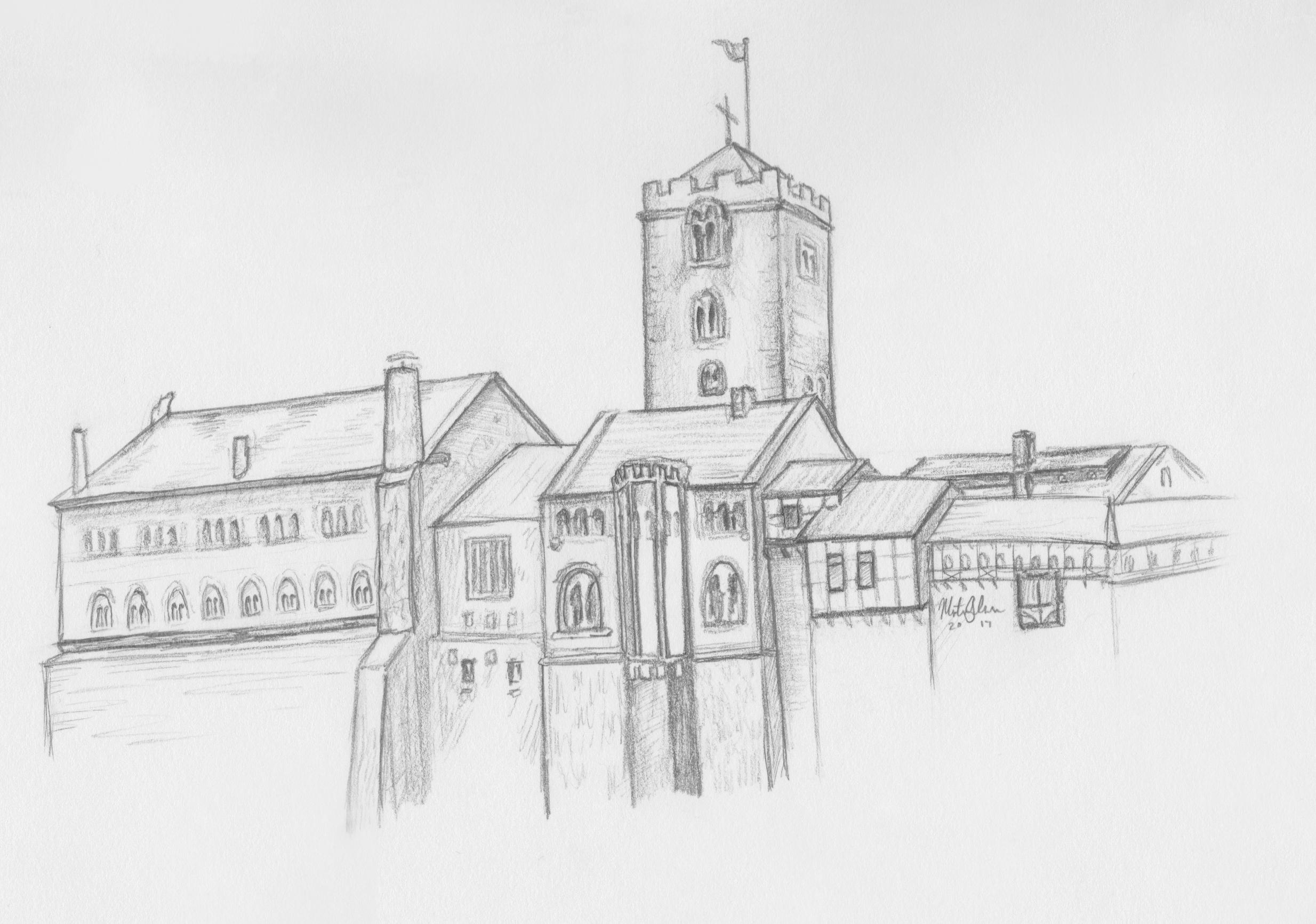 Wartburg Castle  Illustration by Montana Johnson