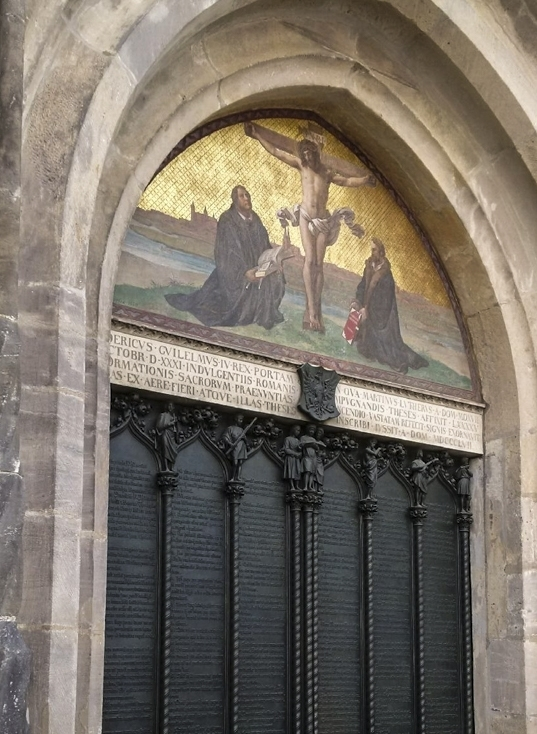 The famous door, Castle Church, Lutherstadt Wittenberg. Photo by Fabrycky family