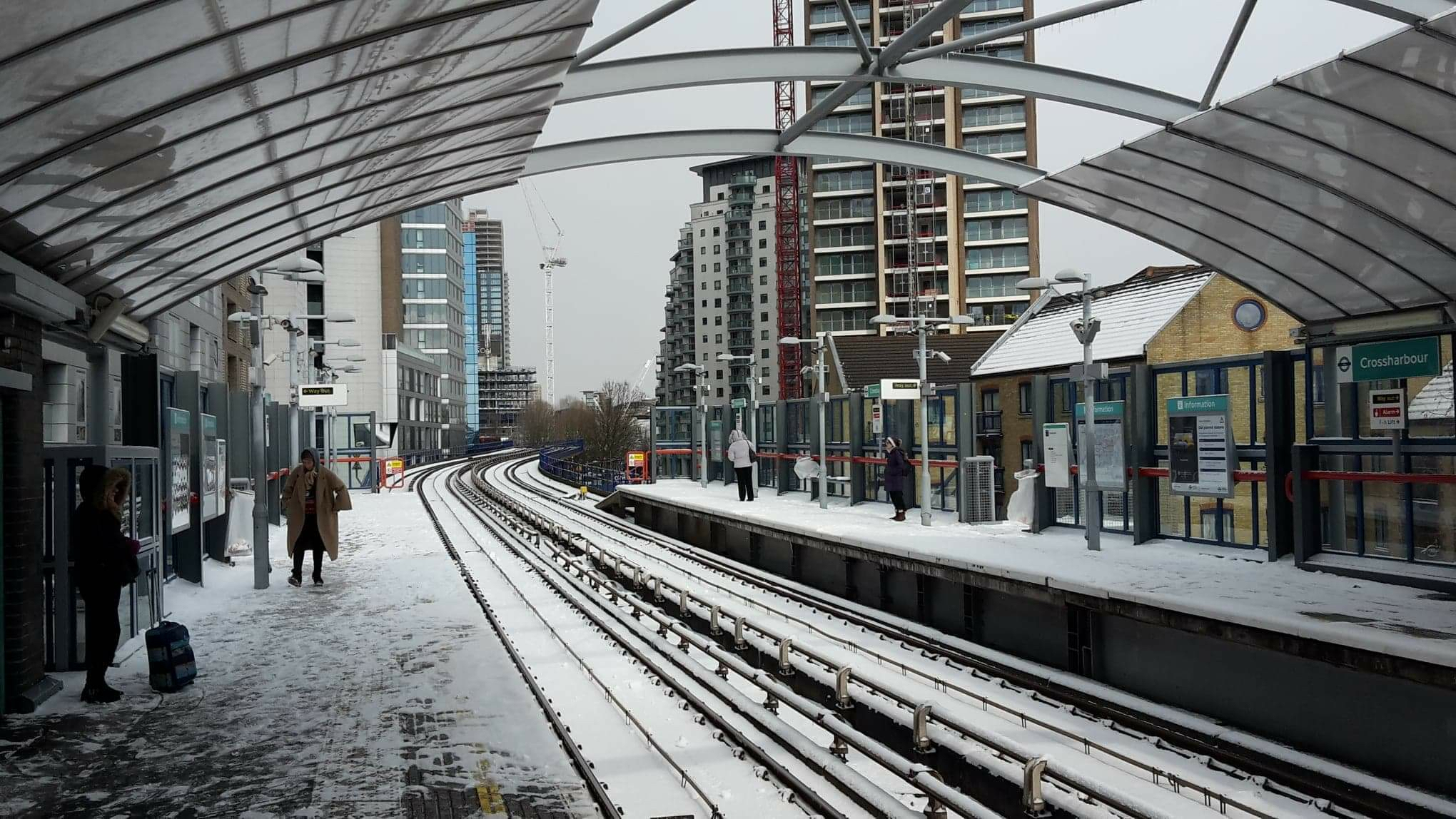 Winter in London's Crossharbour DLR station Photo by Belinda Inglis