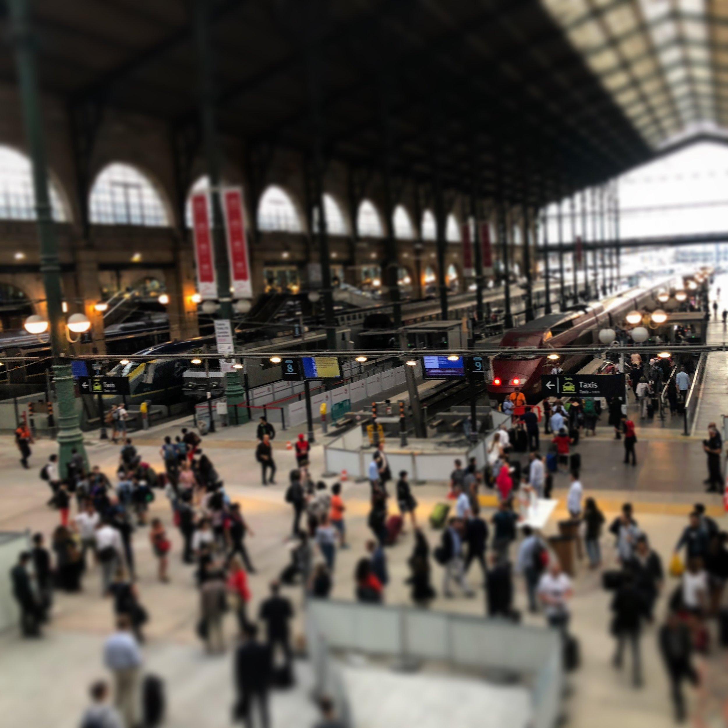 Commuters in London Photo by JC Johnson