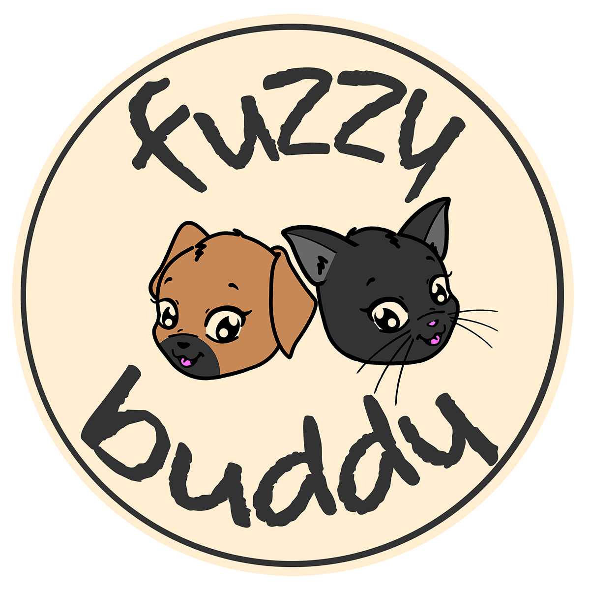 Fuzzy Buddy Logo Circle ALPHA 1200px.png
