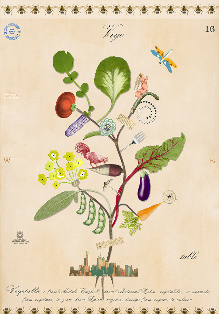 Vegetable Tree of Life - 43x30