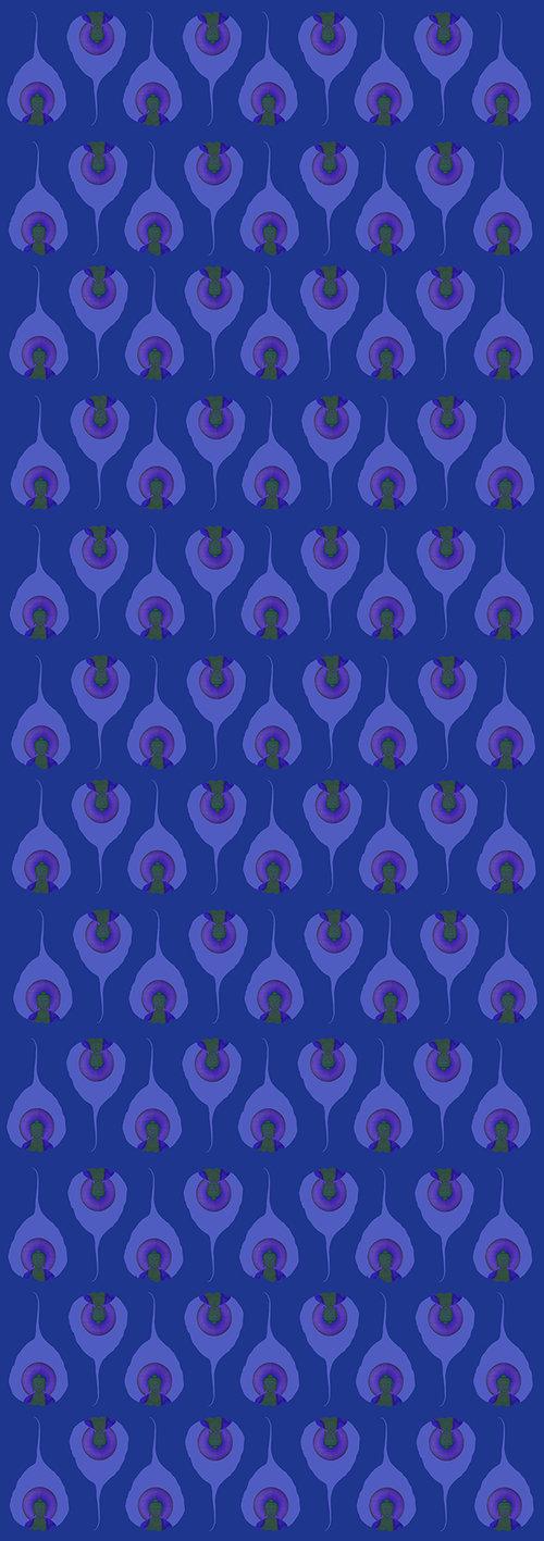 """68x24"""" yoga mat in Celestial Blue"""