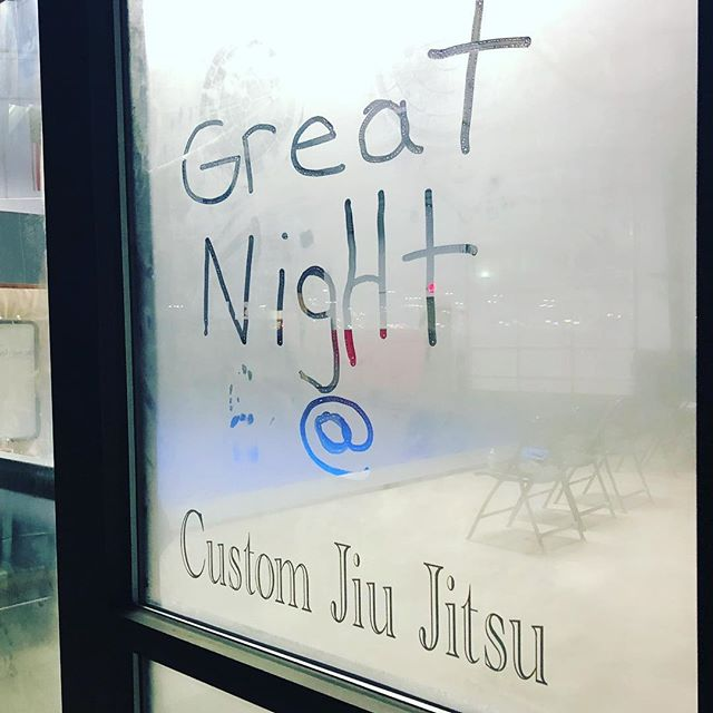 It was a solid night of classes at Custom! I dug seeing your faces. #hardwork #aftermath #bjj #jiujitsu