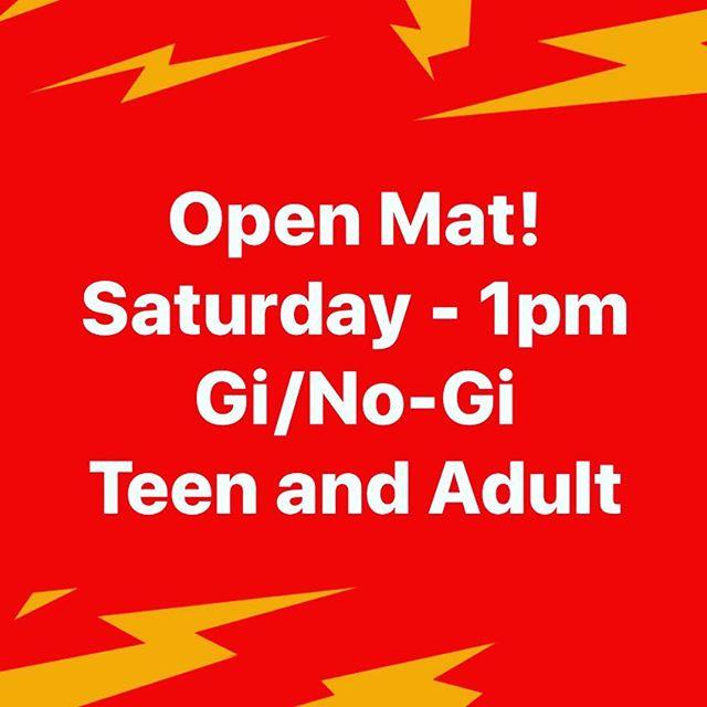 Open mat!  Saturday - 21APR18 - 1pm Gi/No-Gi Let's train! . . . #bjj #kfalls #jiujitsu #openmat