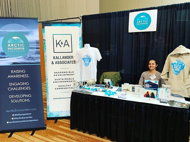 K&A is here at the #OGalaska conference today! Come by our booth to learn more about our mission at K&A and also what's up next at @arcticencountersymposium! . . #arcticencounter #alaska #missionminded #clientdriven