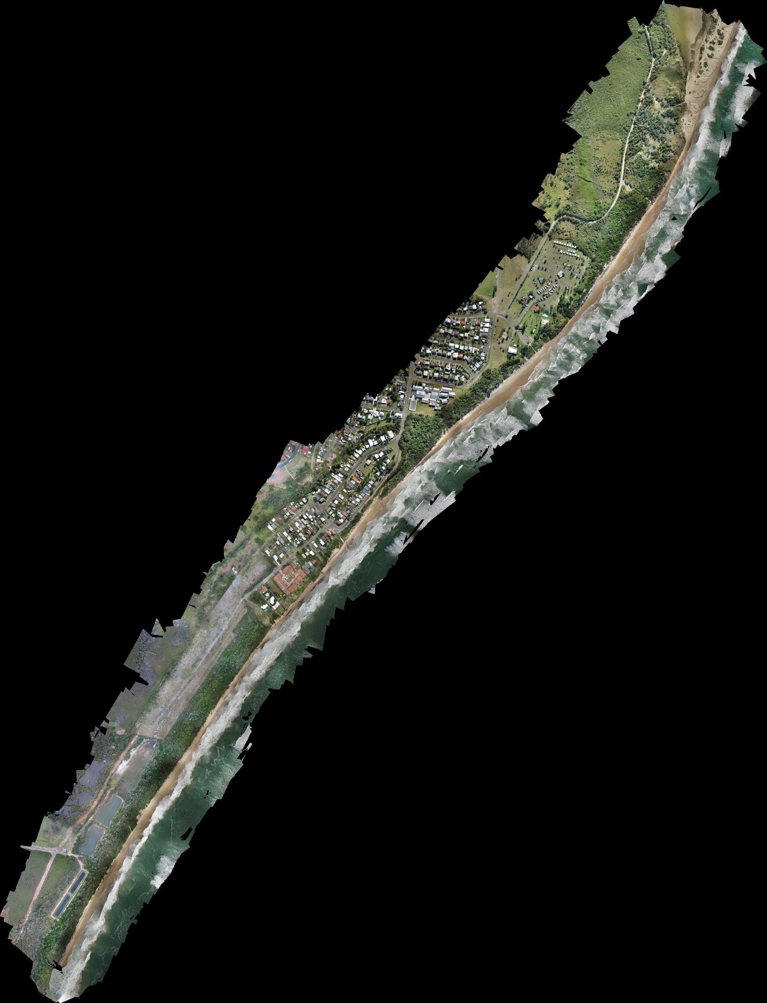 coastal beach erosion mapping