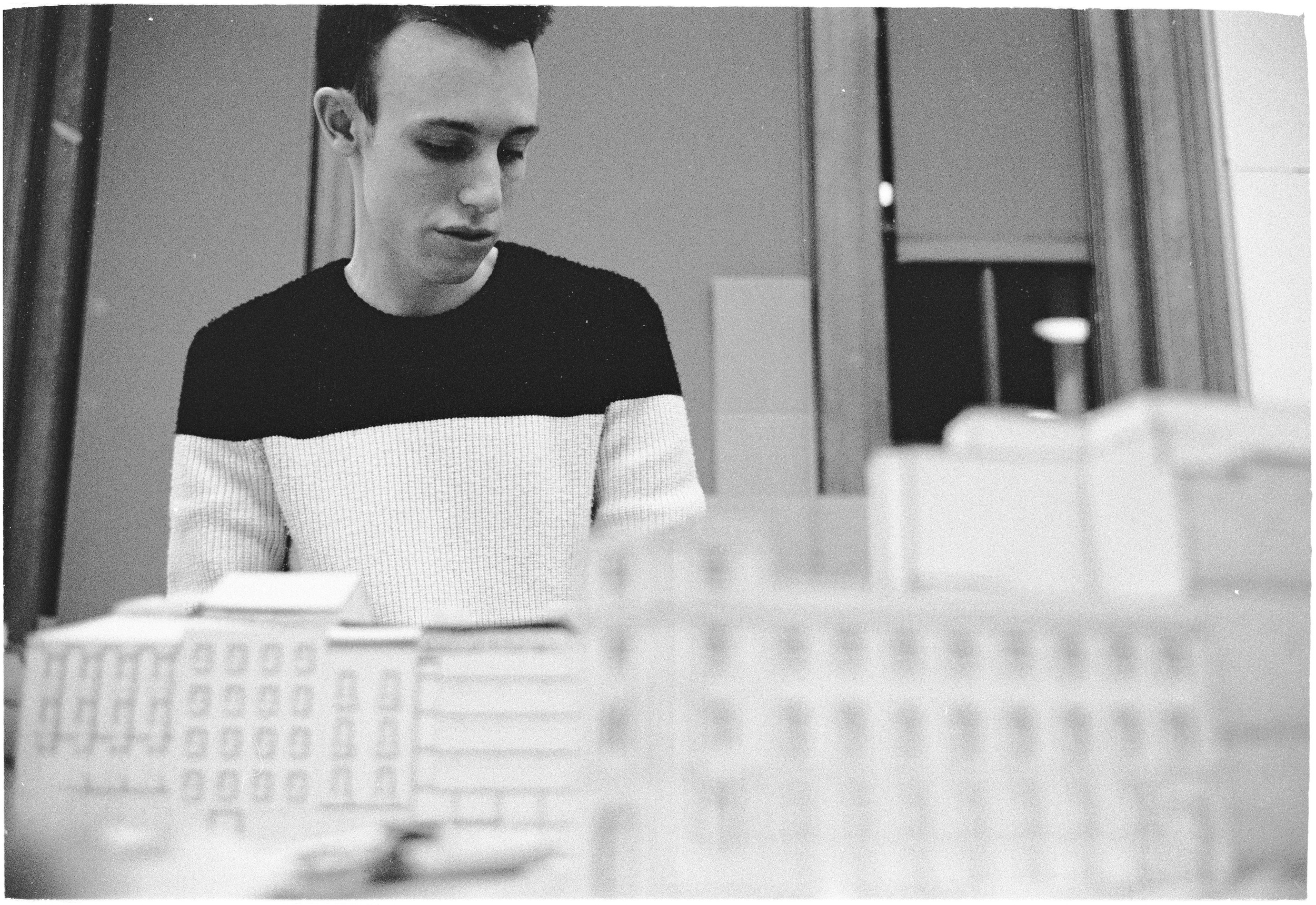 Bobby the builder - College of Fine Arts (Architecture Studio)  |  Tri-X 400 @ 1600