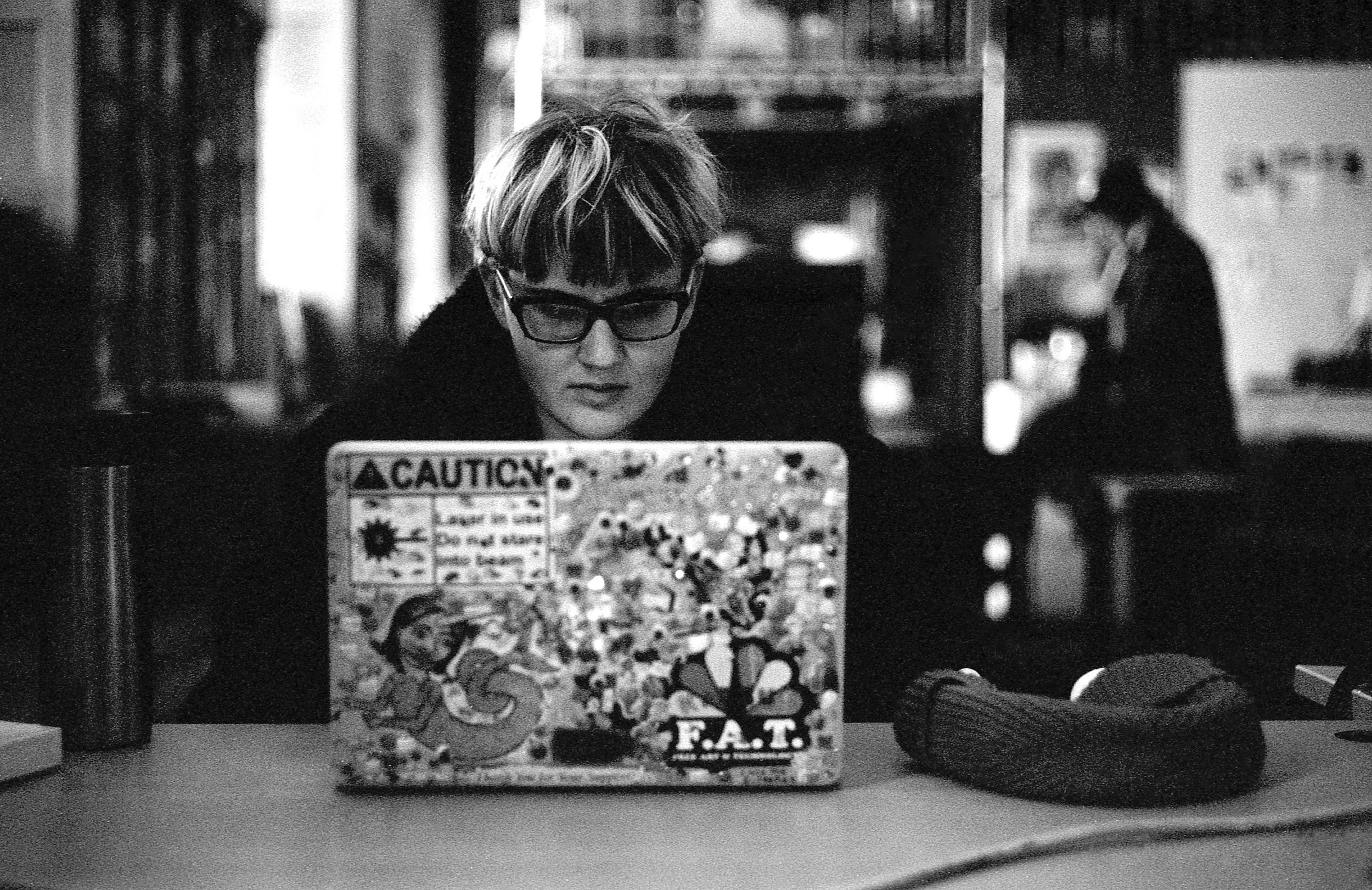 F.A.T. Maddy - Oakland (The Studio for Creative Inquiry) | Tri-X 400 @ 1600