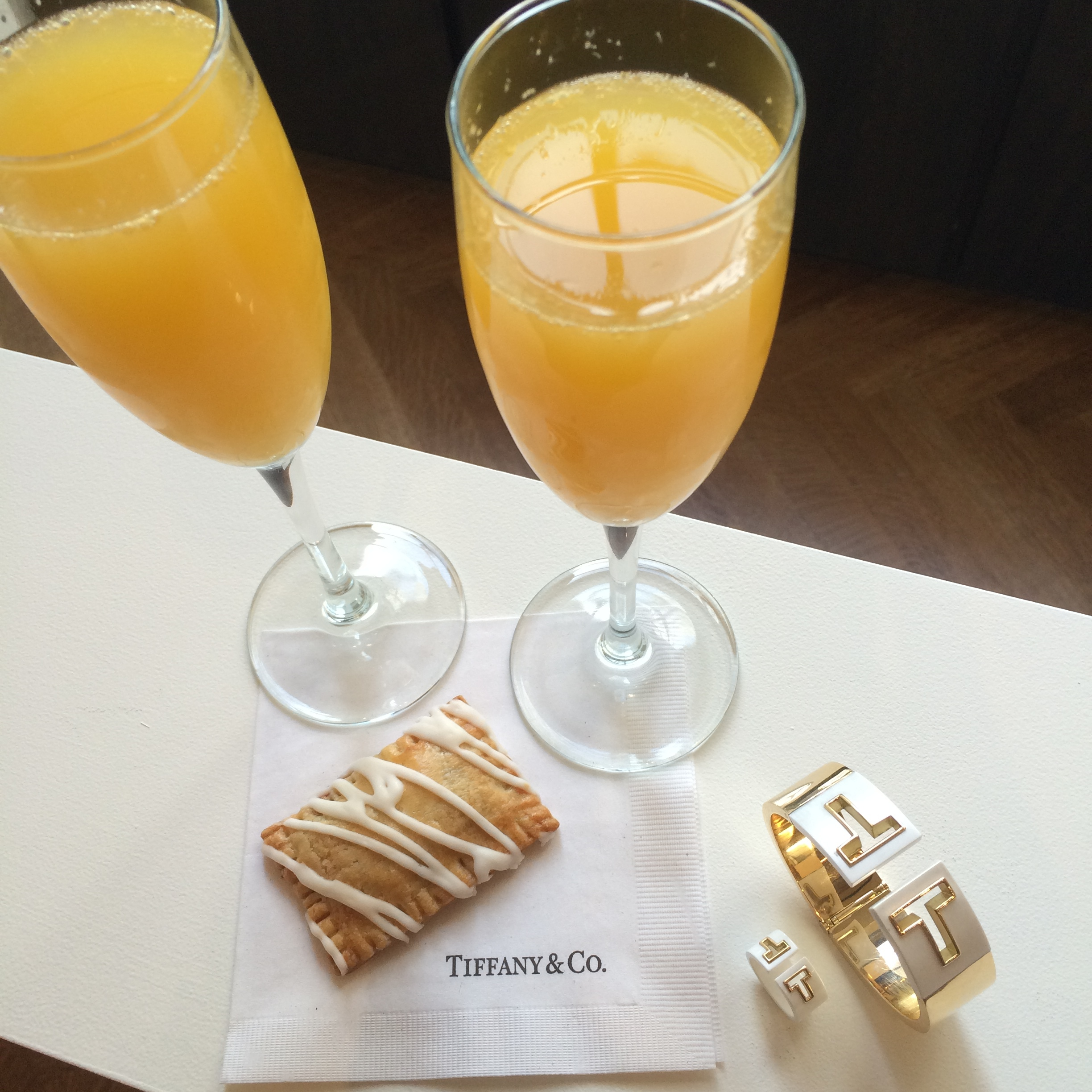 #Tiffany T + Mimosas + petite poptart = An extra cheerful Morning!