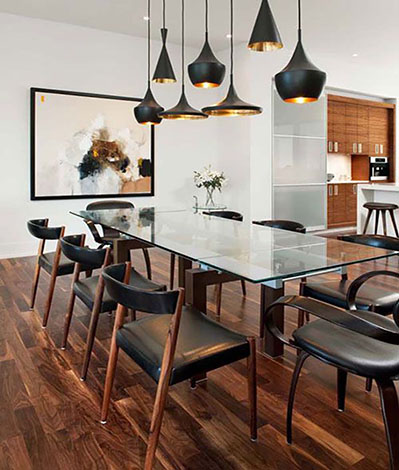 Adding industrial lighting can transform any room, giving it a masculine yet classy feel.