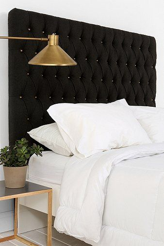 Amazing upholstered bedhead with perfectly simply styling...what else could you need with a feature like this!