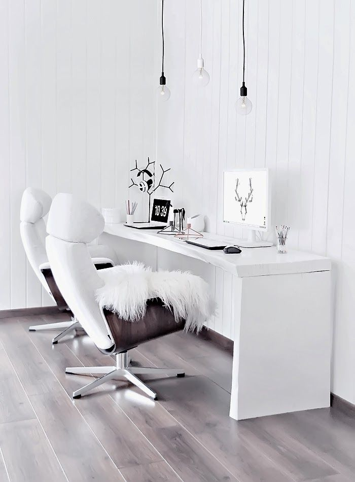 This scandinavian inspired place is un-cluttered and simply. And you can never go past a comfy chair!