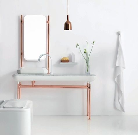 Copper in the bathroom.