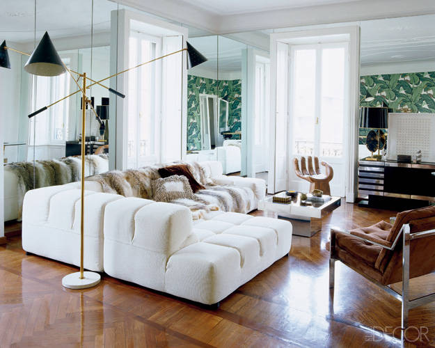 The living area was was renovated by architect Matteo Bermani and decorated by Nate Berkus.